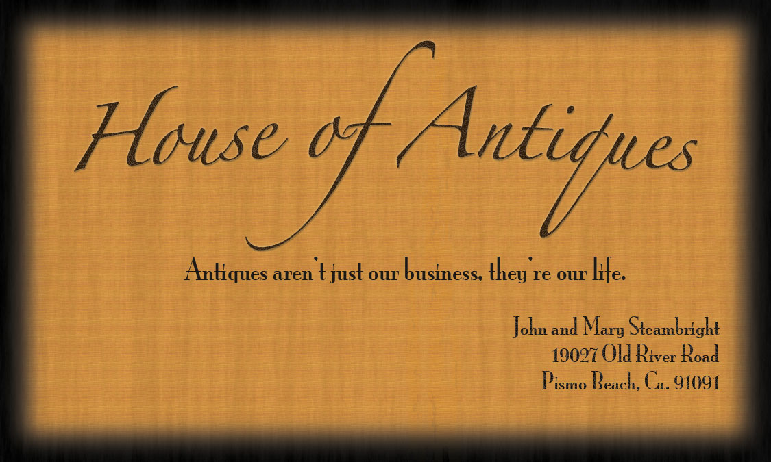 house of antiques free business cards and templates